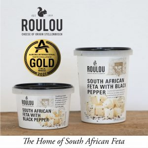 Roulou Feta Cheese with black pepper Gold